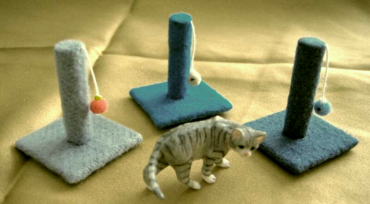 dollhouse cat scratching posts