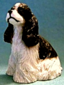 dollhouse American cocker spaniel black and white