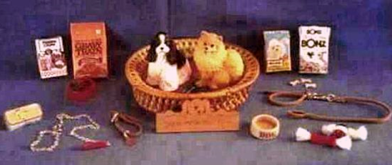 dollhouse dogs and dog accessories